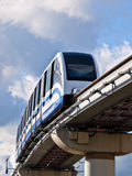 Urban Transportation. City public transport, the monorail railway Royalty Free Stock Photos