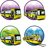 Urban transportations. Vector illustration of web icons of basic city transports Royalty Free Stock Photography