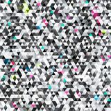 Urban triangle seamless pattern with grunge effect Stock Photo