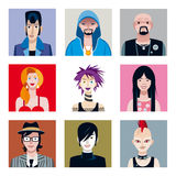 Urban Tribes Avatars Set Stock Image