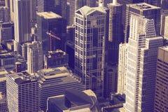 Urban Ultraviolet. Architecture Theme. Chicago Illinois, USA. Urban Photo Collection Stock Image