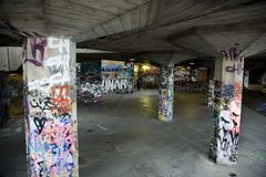 Urban Underground with Graffiti Royalty Free Stock Photography