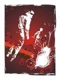 Urban underground party flyer design royalty free illustration