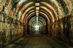 Urban underground tunnel Royalty Free Stock Photo