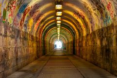 Urban underground tunnel Royalty Free Stock Images