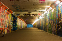 Urban underground tunnel with light Stock Image