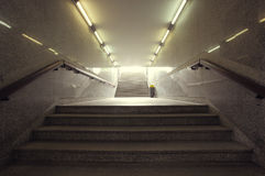 Urban underpass city. Modern stairway Royalty Free Stock Images