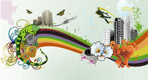 Urban vector illustration Royalty Free Stock Images