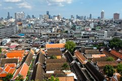 Urban versus rural. In bangkokThailand Royalty Free Stock Photos