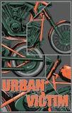 Urban victim. Illustration of mobile urban victim Stock Photo
