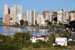Urban View of Calpe Royalty Free Stock Image