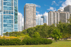 Urban view of the city of Chicago Royalty Free Stock Images