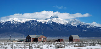 Urban view of Colorado in winter Royalty Free Stock Photo