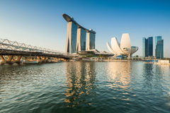 Urban view of the financial district in Singapore Stock Images