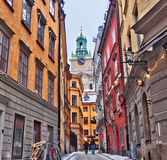 Gamla stan, Stockholm, Sweden. An urban view of the Gamla stan in Stockholm - Sweden Stock Photos