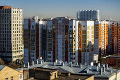 Urban view of Moscow city Royalty Free Stock Images