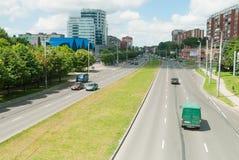 Urban view onto Moskovskiy prospekt. Kaliningrad Stock Photo