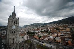 Urban view of Quito royalty free stock image