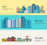 Urban and village landscape. Royalty Free Stock Photography