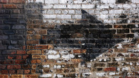 Urban Wall. Old weathered urban wall with arrow royalty free stock photos