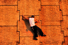 Urban Wall Climbing Royalty Free Stock Images
