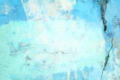 Urban wall, the concrete surface is blue, the color of cement te Royalty Free Stock Photo
