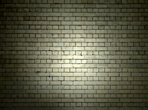 Brick Wall at Night Royalty Free Stock Image