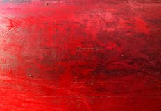 Grungy red texture, old surface of metal boat, abstract background Stock Photo