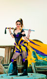Urban Warrior. Fashion and fantasy urban warrior woman Royalty Free Stock Photography