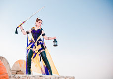 Urban Warrior. Fashion and fantasy urban warrior woman Royalty Free Stock Image