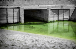 Urban waste water. Stock Image