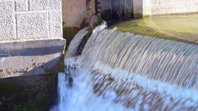 The urban water gateway. Waterfall stock footage