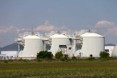 Sewage treatment plants stock photography