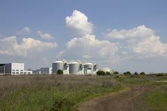 Sewage treatment plants stock photo