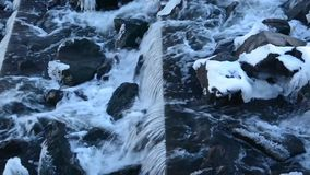 Urban waterfall. Closeup of a waterfall in the city stock video footage