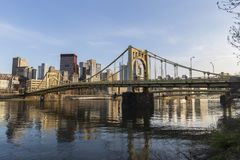 Urban Waterfront Pittsburgh Pennsylvania Stock Photos