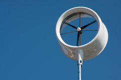 Urban wind turbine. Small urban wind turbine to generate electricity on a small scale Stock Images