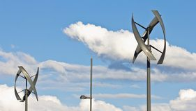 Urban Wind Turbines Royalty Free Stock Image