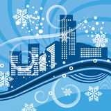 Urban winter background series Royalty Free Stock Photos