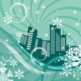 Urban winter background series Stock Photo