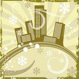 Urban winter background series Stock Photos