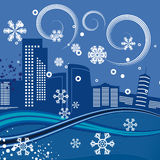 Urban winter background series Stock Images