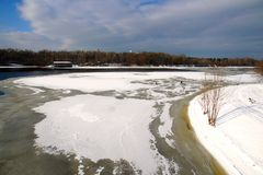 The urban winter landscape stock photos