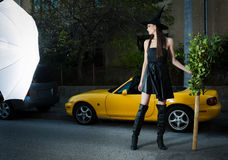 Urban witch Stock Image