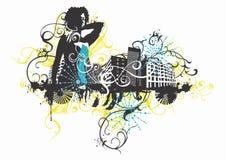 Urban woman stock illustration