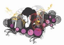 Urban woman vector illustration