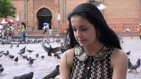 Urban Woman, Female. Stock video of a Hispanic woman stock video footage