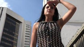 Urban Woman, Female. Stock video of a Hispanic woman stock footage