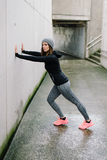 Urban woman on fitness workout Royalty Free Stock Images