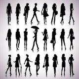 Urban women silhouettes Stock Photo